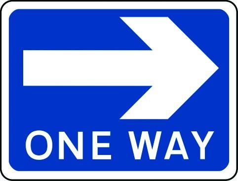One Way arrow right