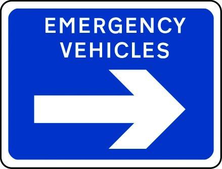 Emergency vehicles arrow right