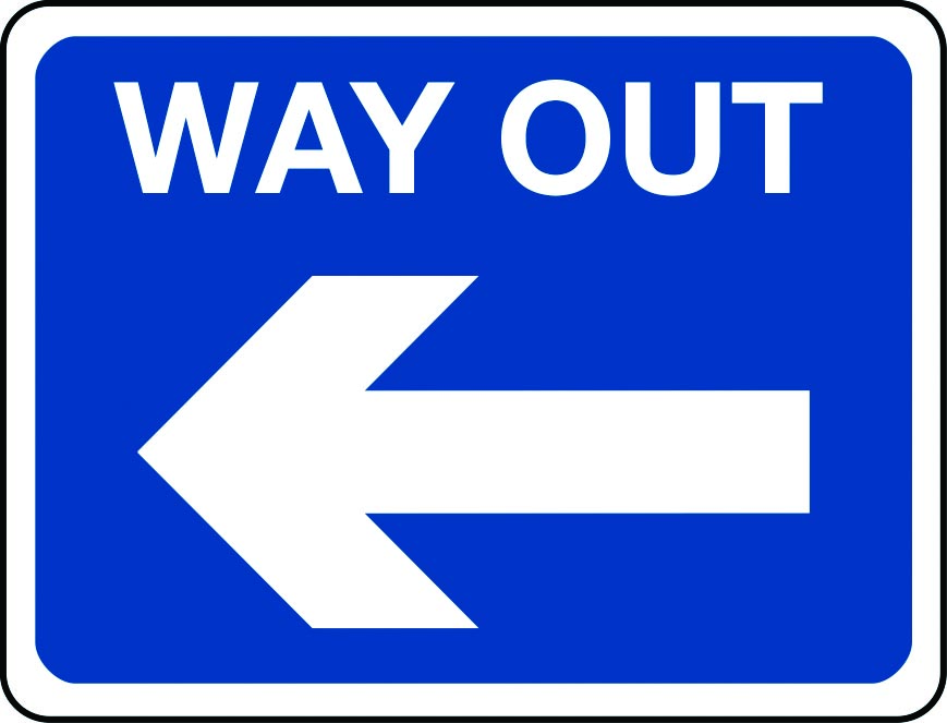 Way Out arrow left