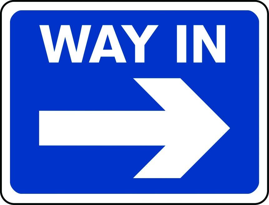 Way In arrow right