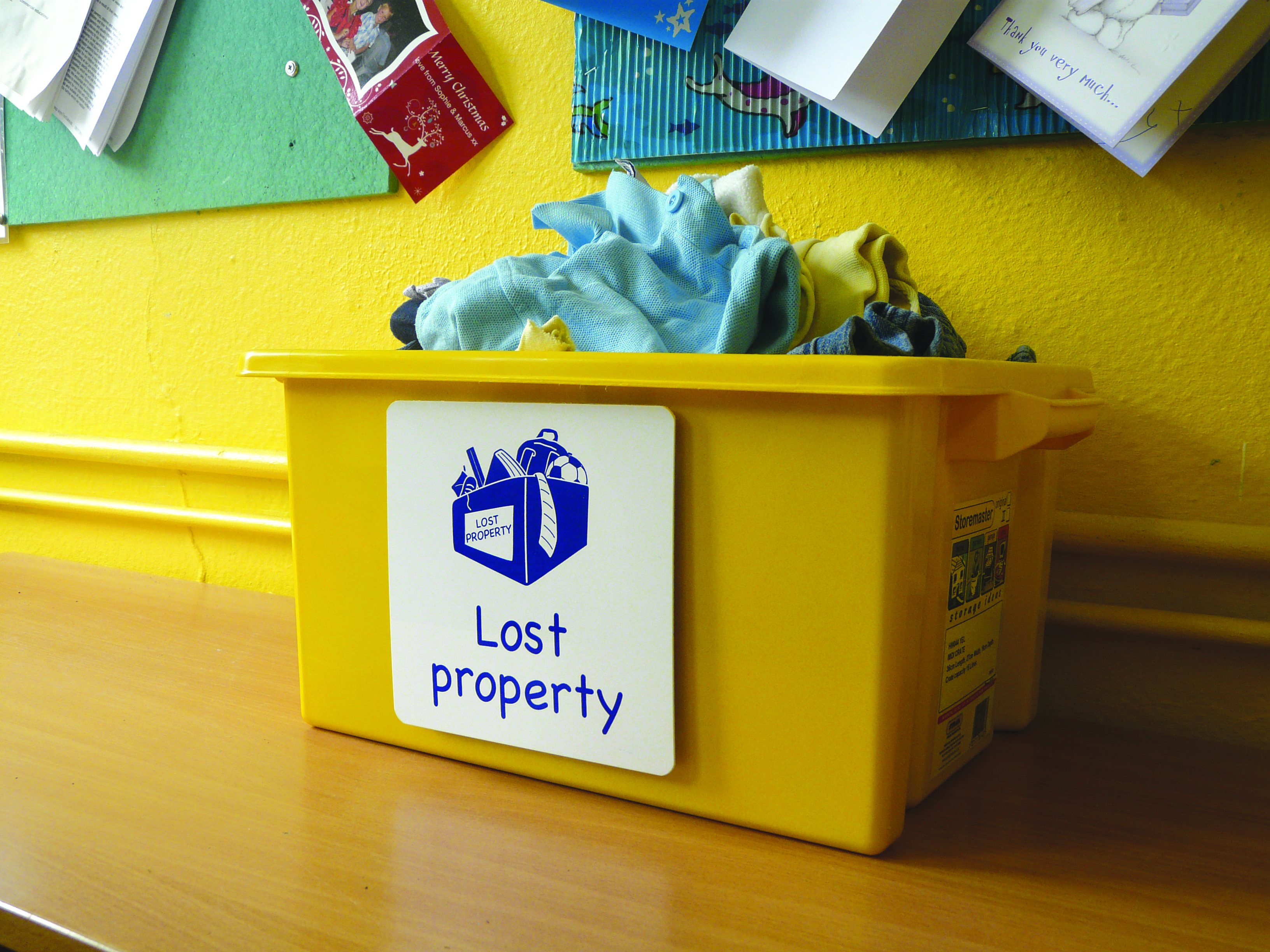 Lost property school sign