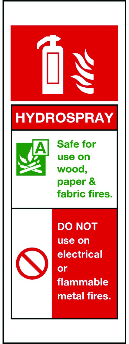 Hydrospray Fire Extinguisher