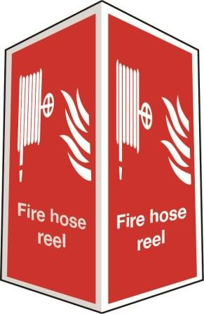 Two-sided fire hose reel
