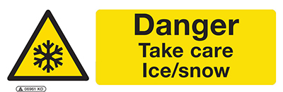 Hazard Take Care Ice/Snow