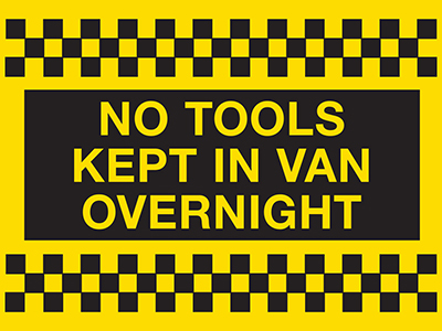 No tools kept in van overnight