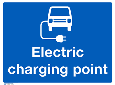 Electric vehicle charging point sign