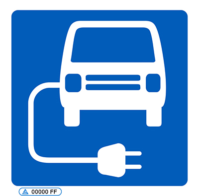 Electric vehicle charging point symbol