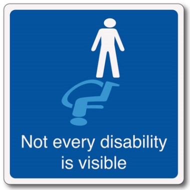 Not every disability is visible sign