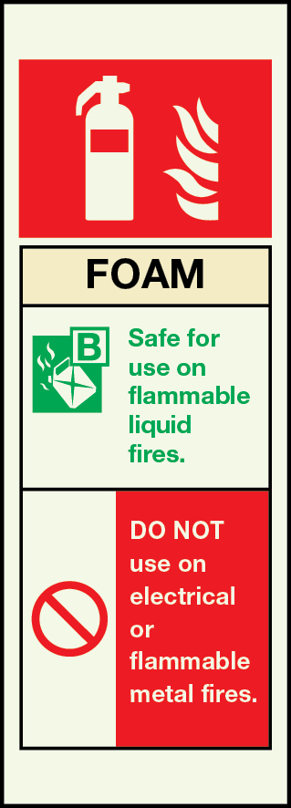 6866 - Foam Fire Equipment Sign