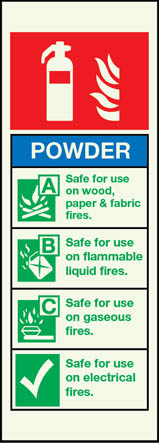 6868 - Powder Fire Extinguisher Sign
