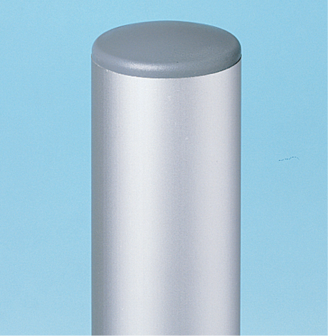 7050 - aluminium Sign post with grey cap
