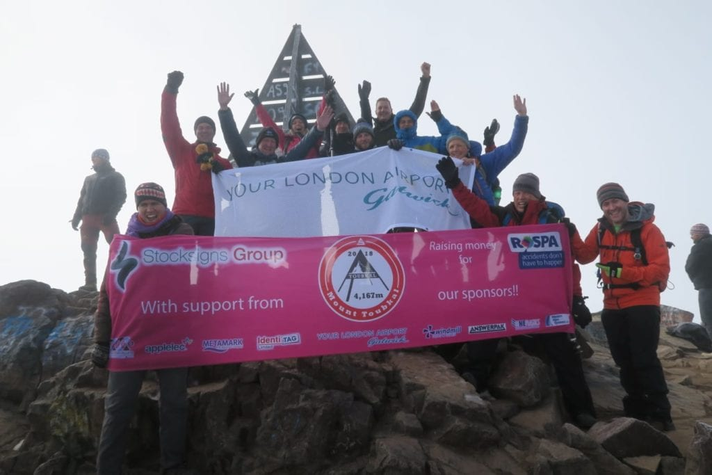 Charity Mount Toubkal Walk Group at Summit Finish