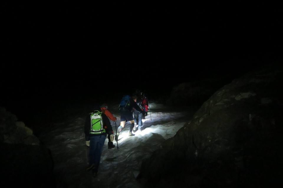 Charity Mount Toubkal Walk Group Snow Climb Night