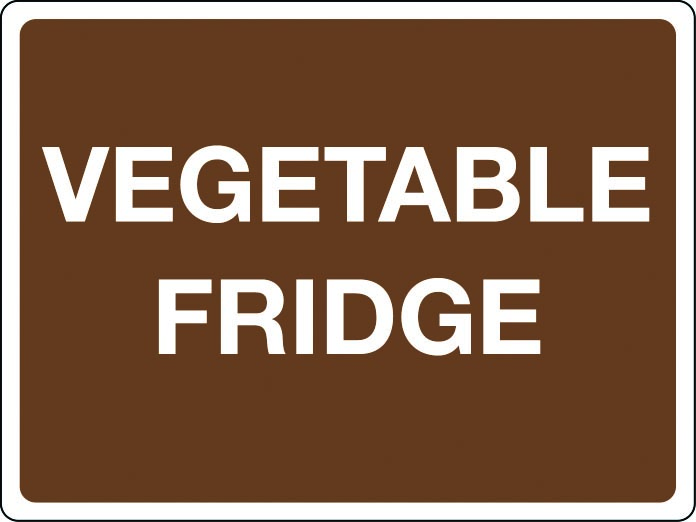 Vegetable fridge sign