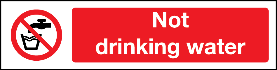 Not drinking water mini sign