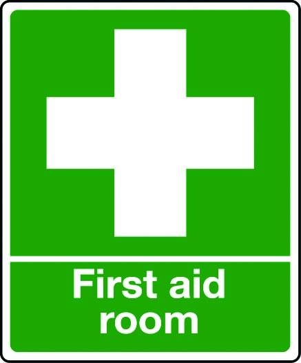 photo regarding Printable First Aid Sign named Very first help area indication
