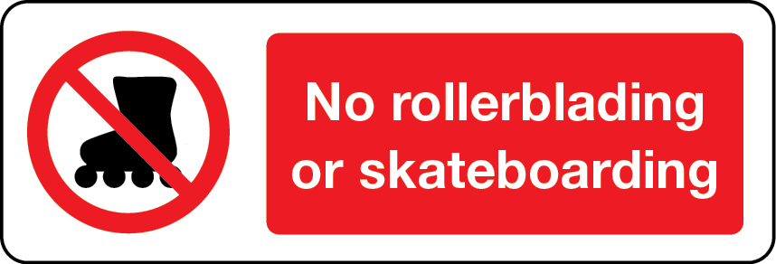 03661 - No Rollerblading or skateboarding