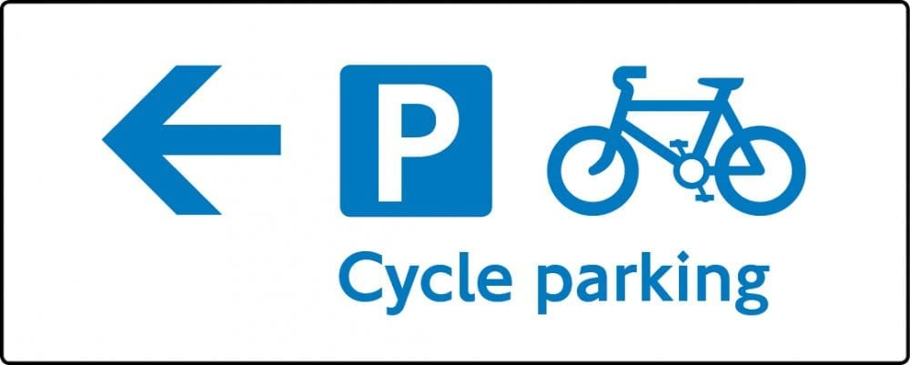 Cycle parking sign
