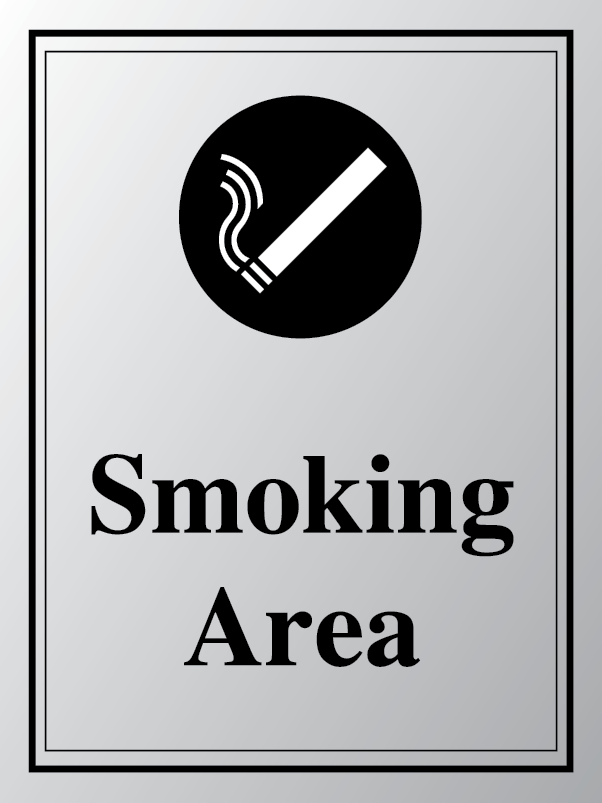 Smoking area policy sign