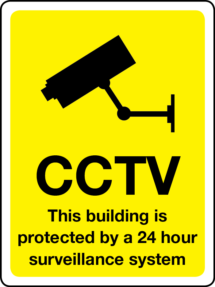 This building is protected by 24-hour surveillance sign
