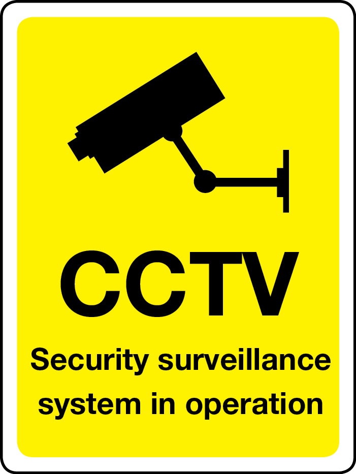 CCTV security surveillance in operation sign
