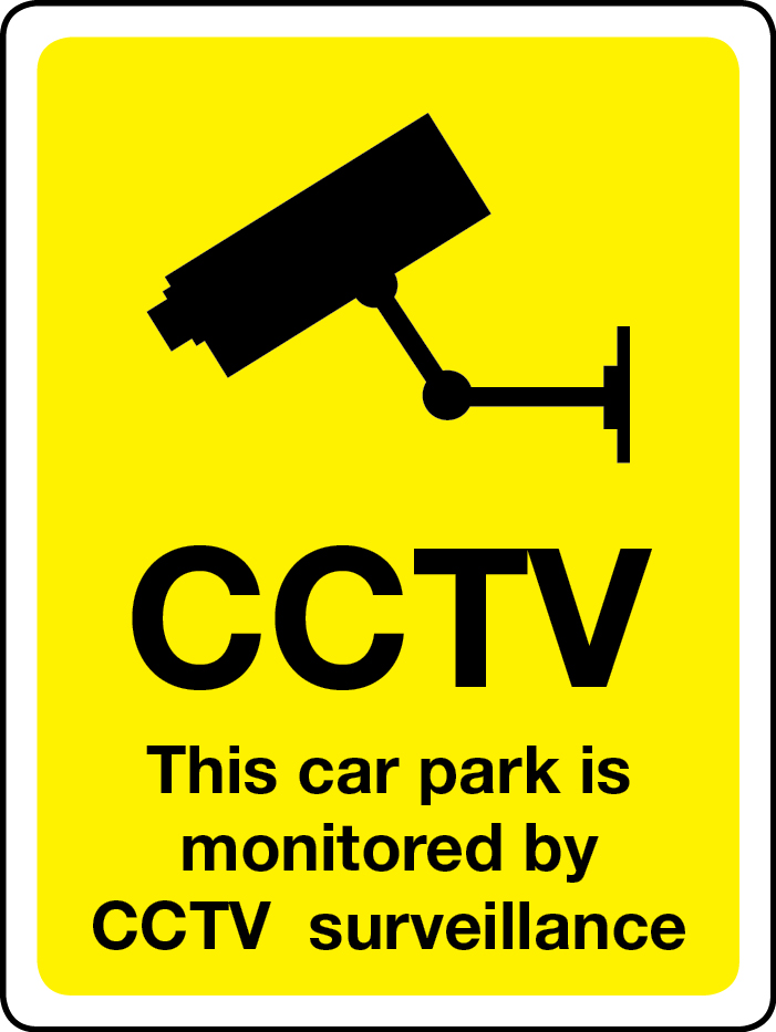 This car park is monitored by CCTV surveillance sign