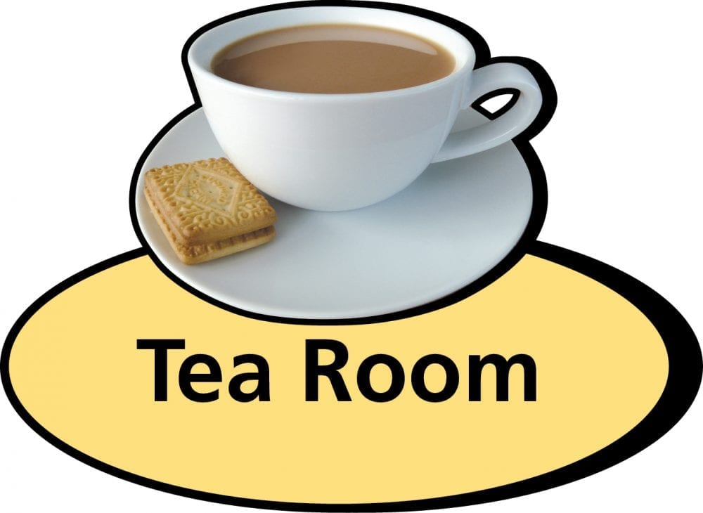 3D pictorial tea room sign