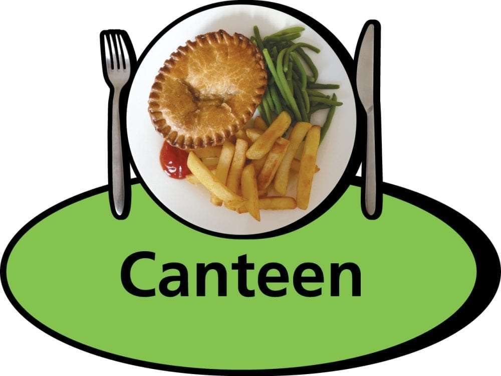 3D pictorial canteen sign