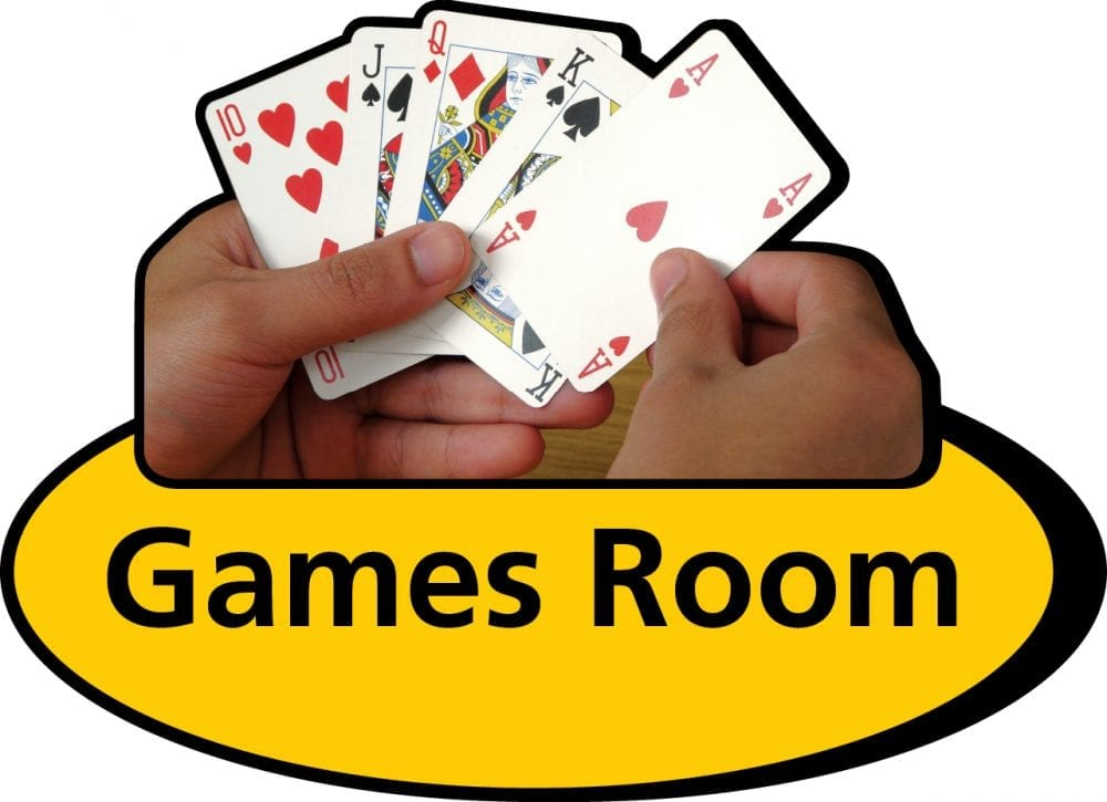 Games room 3D pictorial sign