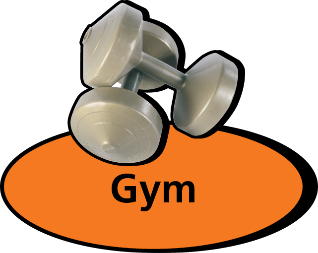 3D pictorial gym sign