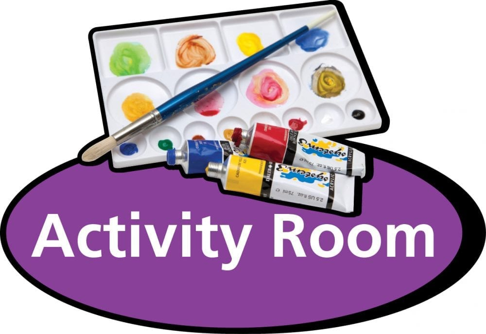 3D pictorial activity room sign