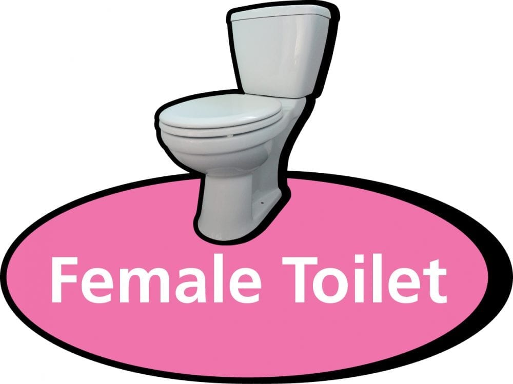 Female toilet 3D pictorial sign