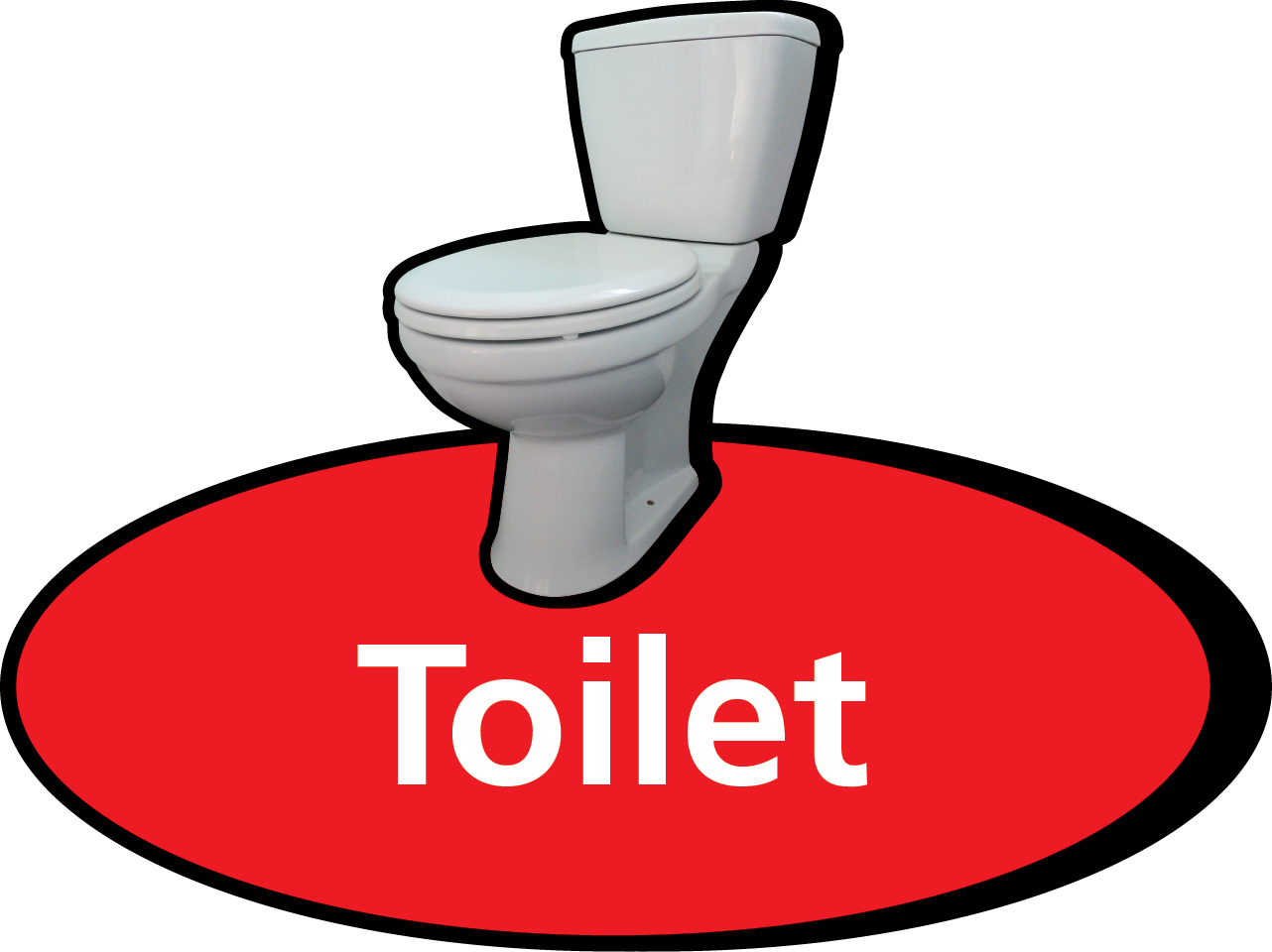 Toilet 300 X 320mm Sign Stocksigns