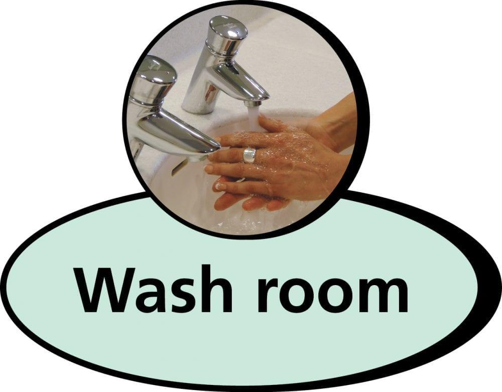 Washroom 3D pictorial sign