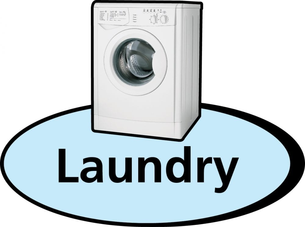 Laundry 3D pictorial sign