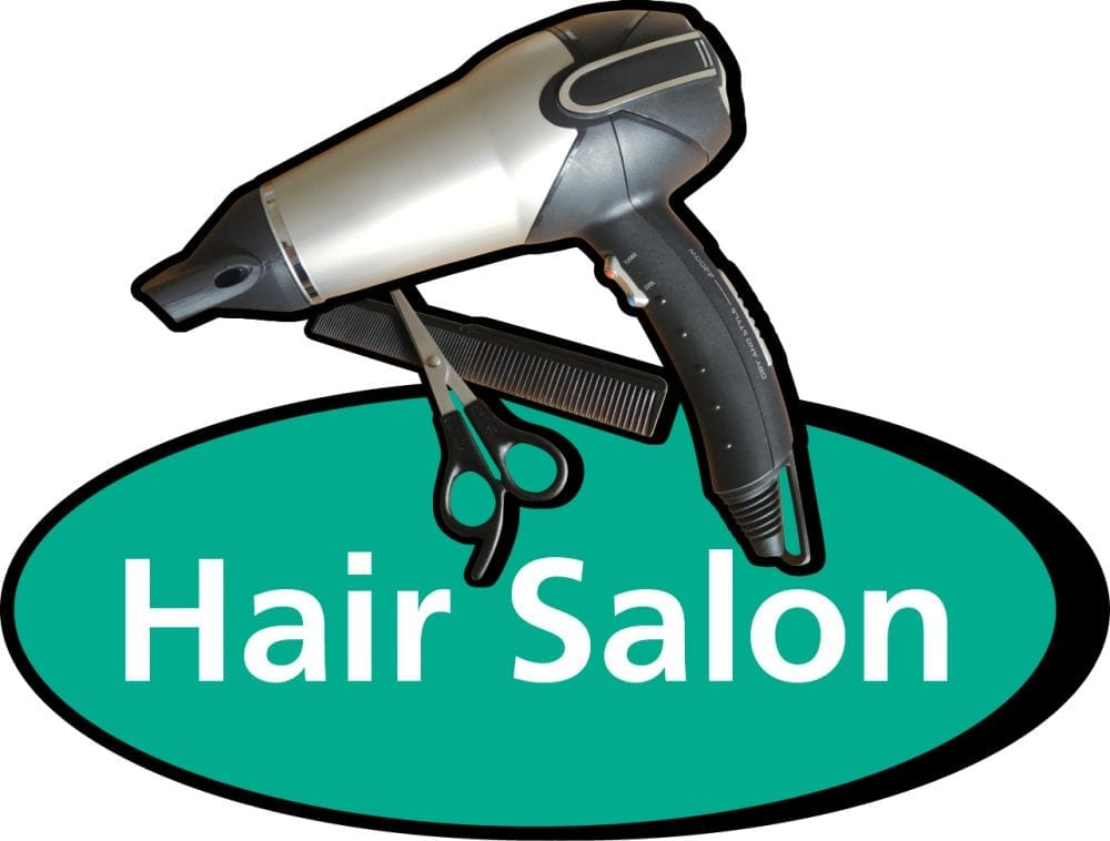 Hair salon 3D pictorial sign