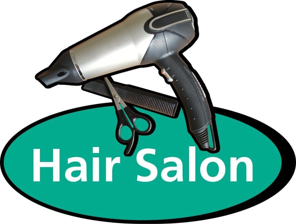 Hair salon 3D pictorial sign