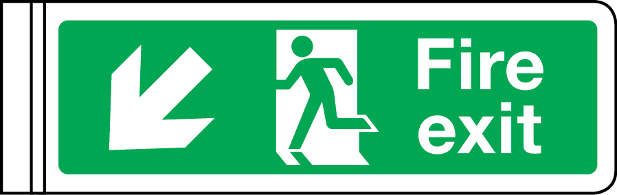 Fire exit sign - down left