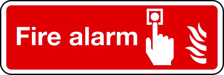 Fire alarm call point landscape layout sign