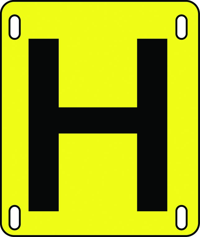 Hydrant plate sign