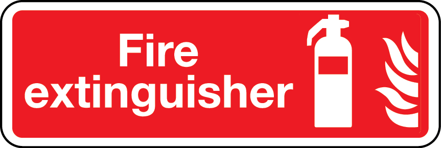 Fire extinguisher (general) landscape sign