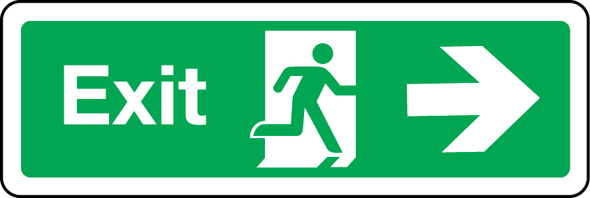 Exit primary arrow right sign