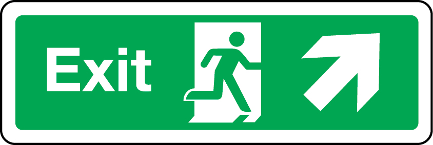 Exit primary arrow up right sign