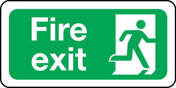 Fire exit sign (right)