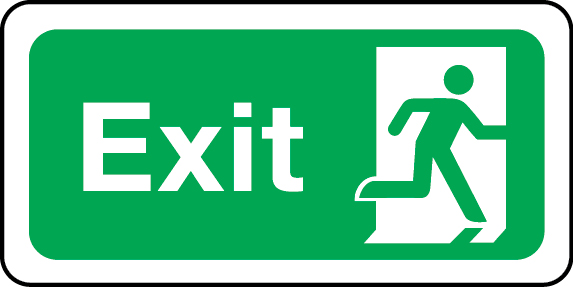 Exit sign (right)