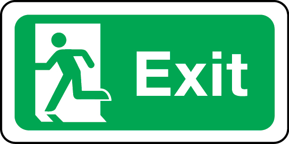 Exit sign (left)