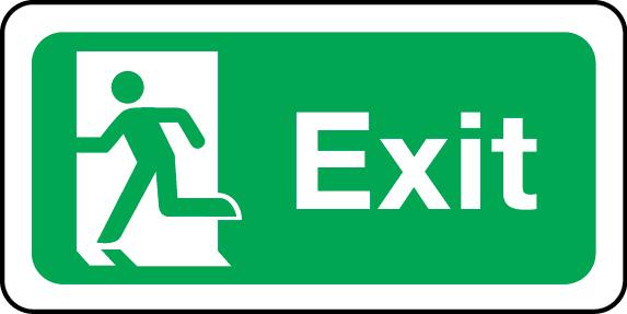 Exit sign (left)