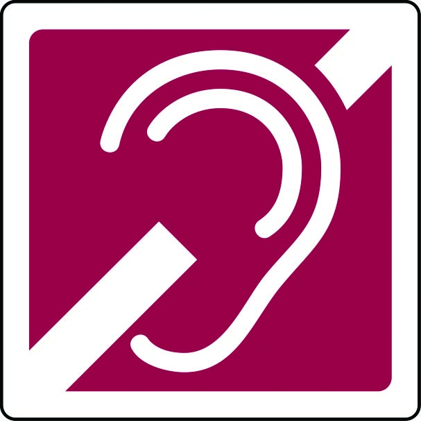 Hearing aid induction loop sign
