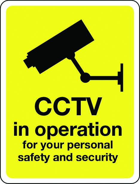 CCTV in operation for your safety and security sign