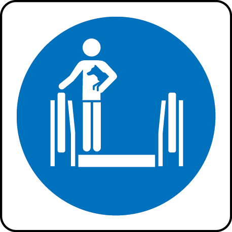 Carry dog symbol escalator sign